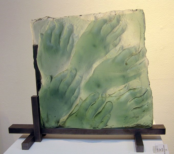 Mimi Abers, Touch1, kiln-cast glass,16-x-18-x8 ins, 2007