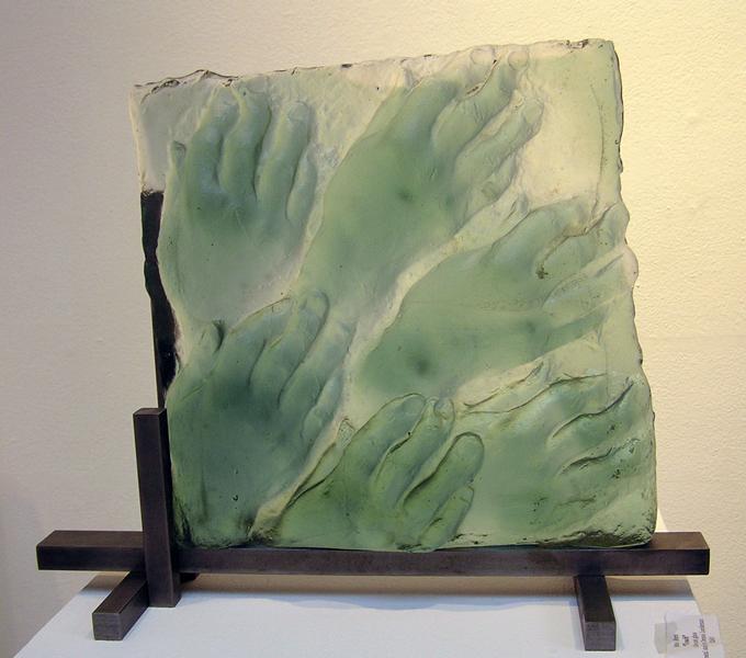 Mimi Abers, Touch1, kiln-cast glass,16-x-18-x8 ins, 2007