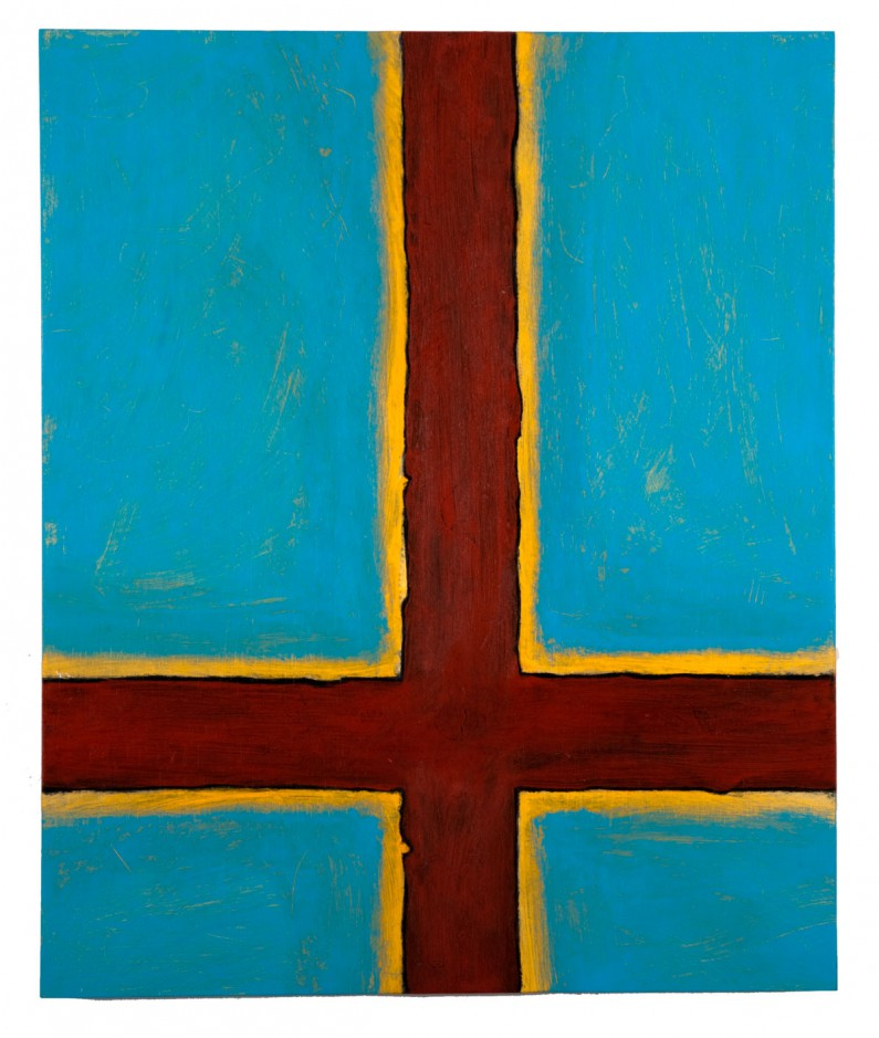 Will Thoms — Sienna Crossroads, acrylic, metalic paint on doorskin