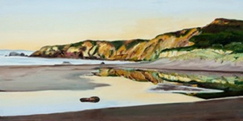 Kathleen Goodwin, Kehoe Beach with Reflection