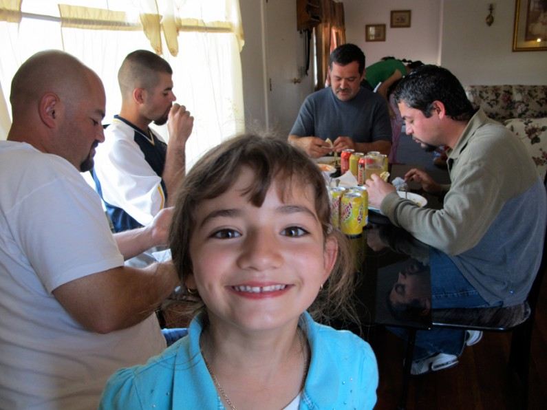 Lunch with the Gonzales Family by Juanita Romo