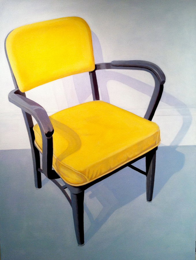 Candace Loheed, Yellow Office Chair