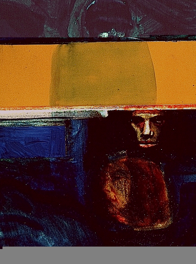 """Eric Engstrom, My Brother David, Vietnam, 1968, acrylic and m/m on paper, 11"""" x 14"""""""