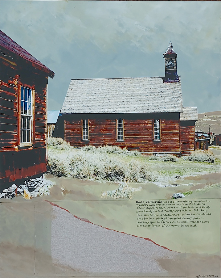 Eric Engstrom, Bodie, CA ghost town, mixed media
