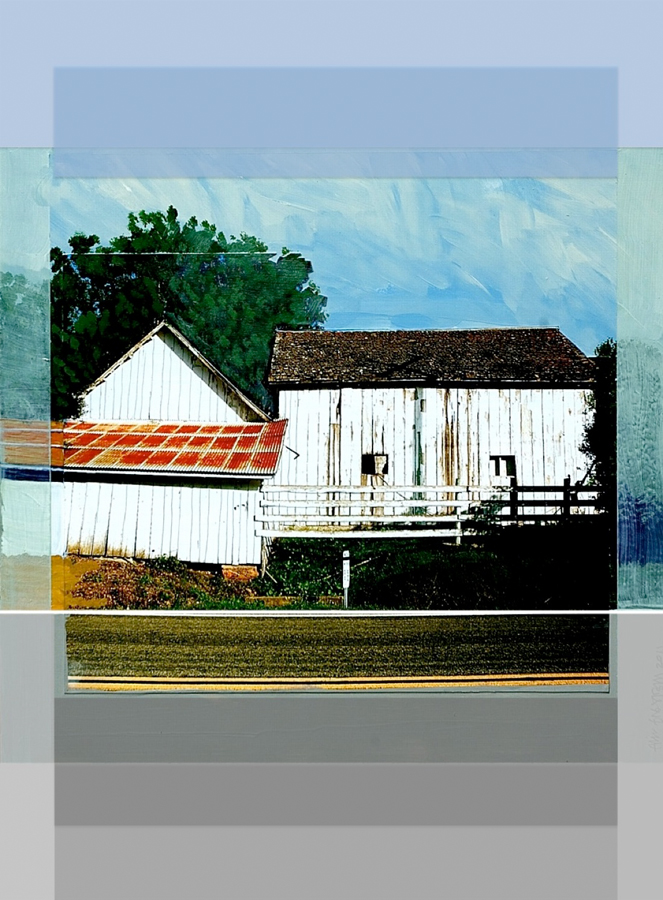 """Eric Engstrom, McIsaac Ranch Barns, Tocaloma, 2011, Limited edition inkjet print,14"""" x 11"""""""