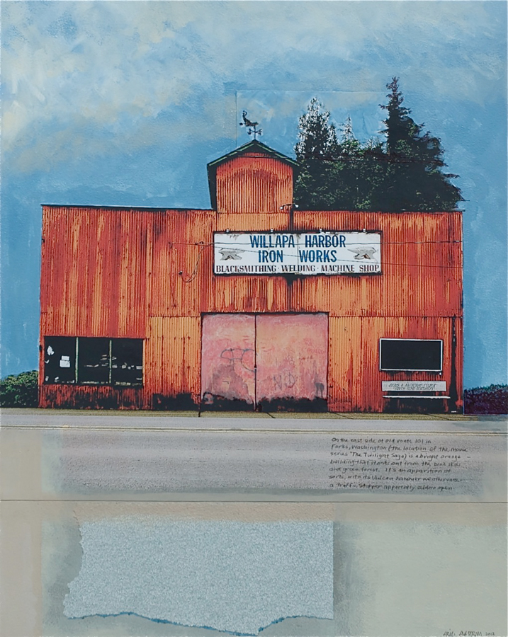Eric Engstrom, Willapa Harbor, mixed media