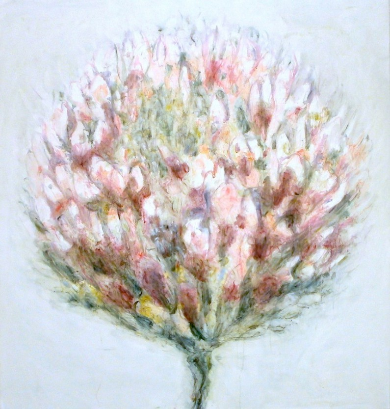 Patti Trimble, Endangered Showy Clover, oil on linen, 38