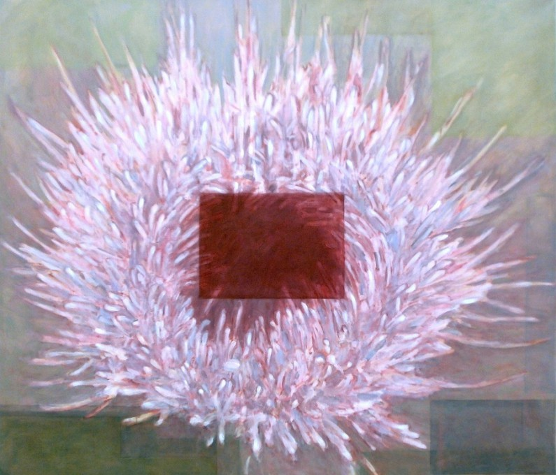 Patti Trimble, Fountain Thistle, oil on linen, 44