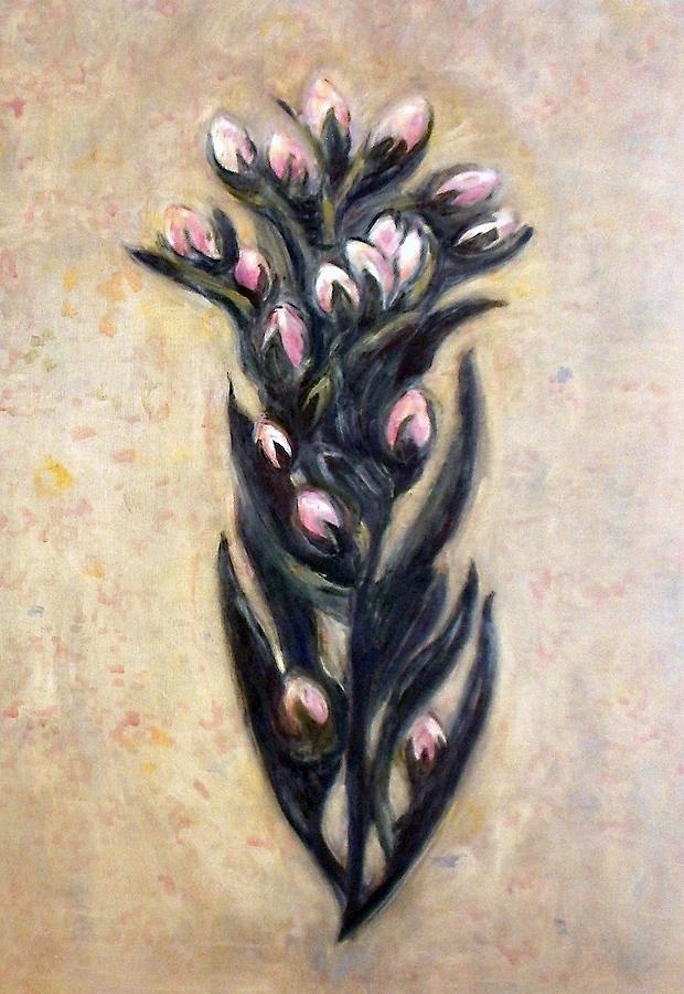 Patti Trimble, Marin Dwarf Flax, oil on linen, 37