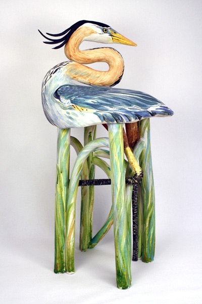 Gail Ritchie, The Great Blue Chair, ceramic