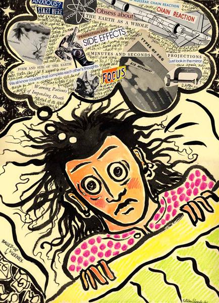 Kathleen Edwards, Insomnia, mixed media 16x12