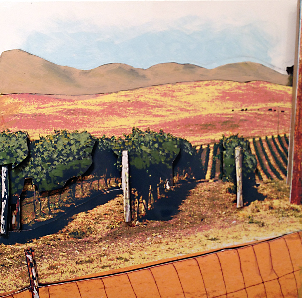 Eric Engstrom, Wine Country, mixed media