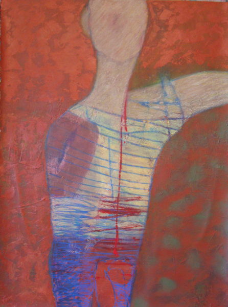 Suzanne Parker Rendition acrylic and oil pastel 30 x 22.503