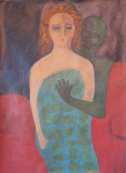 SuzanneParkerVisitation rights-acrylic and pastel on pa 30x 22.509