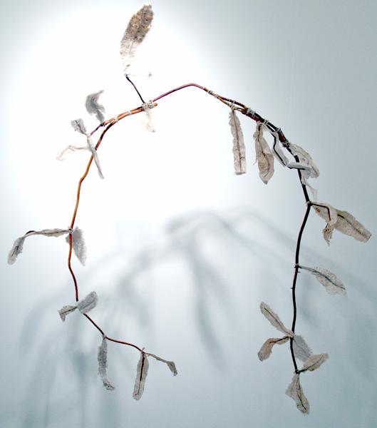 Jane Ingram Allen, Feather Boa, handmade paper and m-m