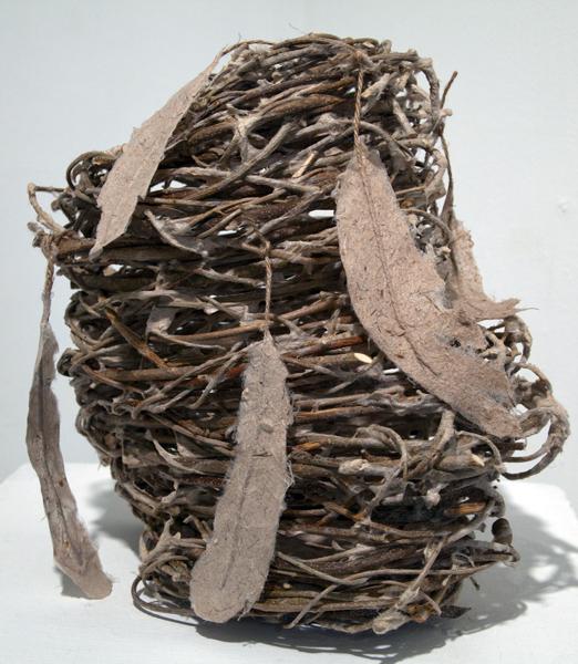 Jane, Ingram Allen, Olive Basket, handmade paper and m-m