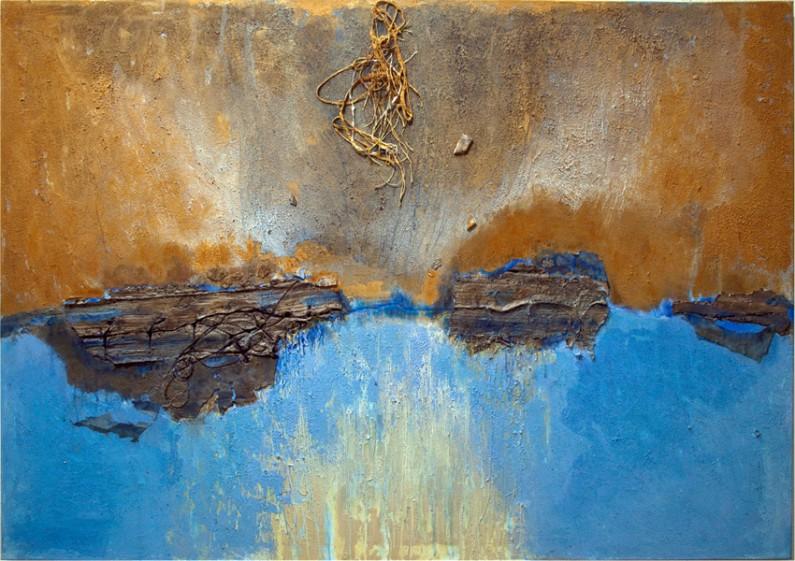 Mary Mountcastle Eubank, Passage, 2013, acrylic and m/m, 49 x 72 ins.