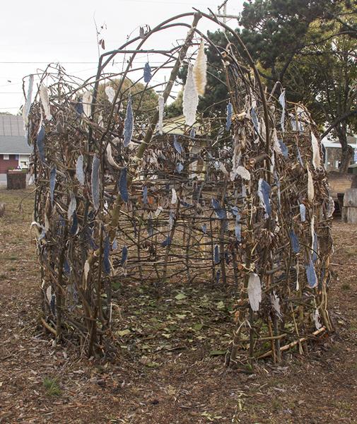 Large Nest, Public Art Project, Point Reyes Commons, photo-Tim S. Allen