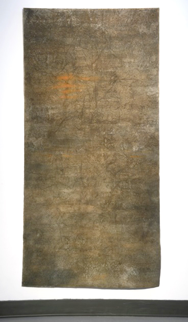Cindy Cleary, Soil Sutra, mixed media, 3x6ft