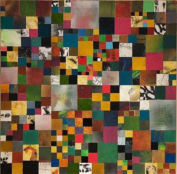 Will Thoms, Simple Pleasure, mixed media on plywood, 30 x 30, 2012