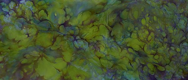 Johanna Baruch, Autopoiesis, Oil on panel, 36x84