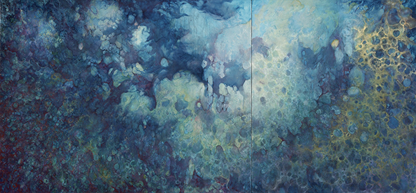 Johanna Baruch, Nostro Mari, Oil on panel, 40 x 86