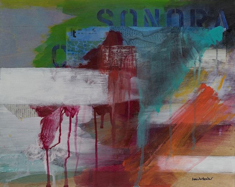 Ann Knickerbocker, Sonora Carruseles, mixed media,16x20