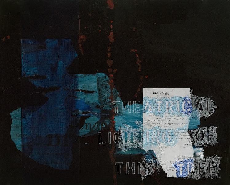 Ann Knickerbocker, Theatrical Lighting, mixed media, 16x20