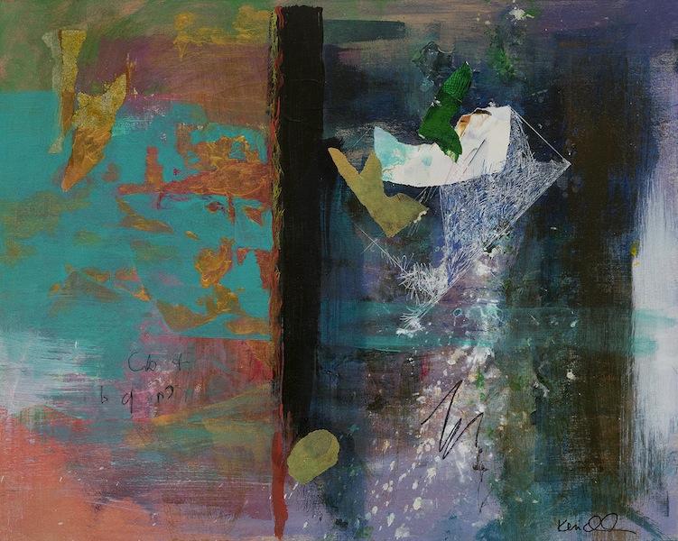 Ann Knickerbocker, cb 7bqr White Gold, mixed media,16x20