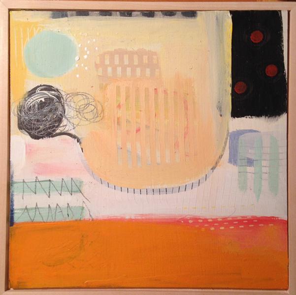 Candace Loheed, Unraveled,12 x 12, acrylic