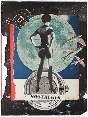 Eric Lendl, Nostalgia, mm collage, 14x11 ins