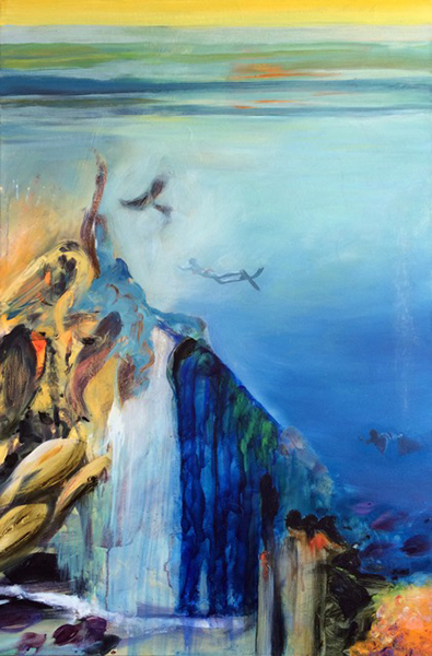 Janey Fritsche, Voyage to Turtle Station, 36 x 24 ins, Oil on canvas