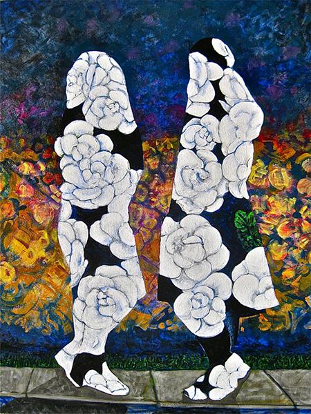 Joan Thornton, Strategy, Acrylic on canvas, 40 x 30 ins