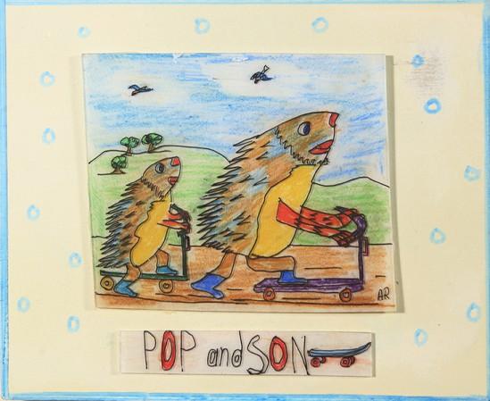 Andrew Romanoff, Pop And Son, Shrink art