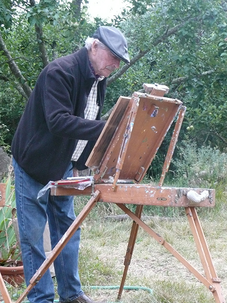 Andrew Romanoff at the easel