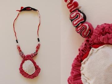 Sheri Park, Uterus necklace bleeding the lining of my uterus through my sexual organs,