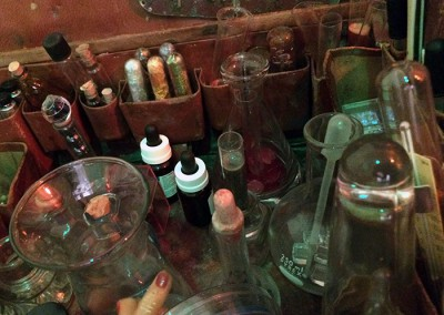 Betty Woolfolk, assemblage with test tubes