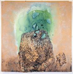 Mary Mountcastle Eubank, Totem with Shards, Acrylic on canvas,