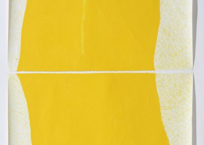 Diana Marto, Light # 1, Diptych detail, oil stick, colored pencil, carving, on paper, 50x108in