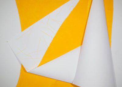 "Diana Marto, Light #4, paper sculpture, 4' x 6' x 6"""