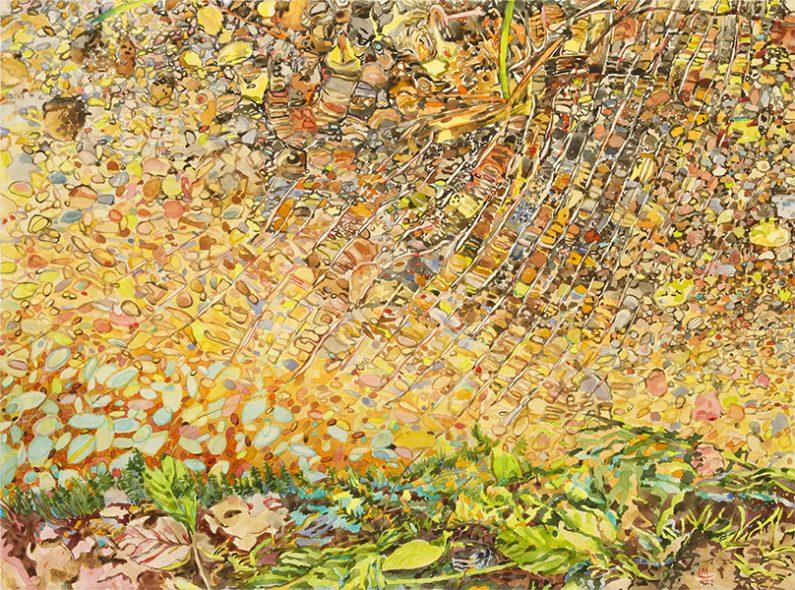 Linda MacDonald, Northern Lights, watercolor, 22 x 30