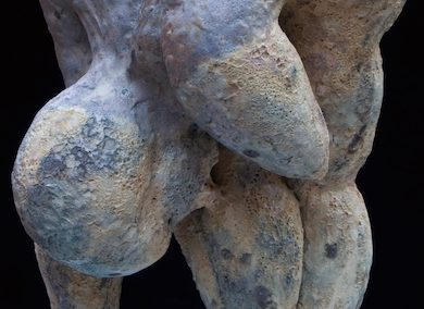 Mimi Abers, Bent Over, fired clay