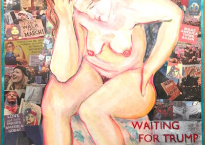 VICKISA Waiting For Trump to be Impeached, mixedMedia-18x24ins