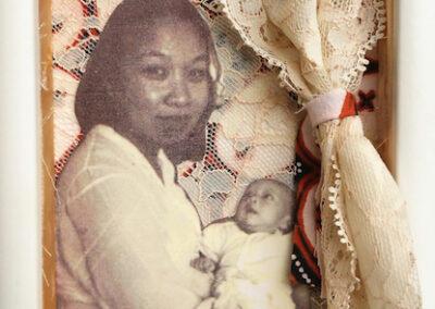 Irene Wibawa, Oma Veronica. 5 x 7 mixed media on acetate