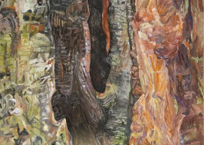 Linda MacDonald, Follow Within, oil on canvas-28h x 20w
