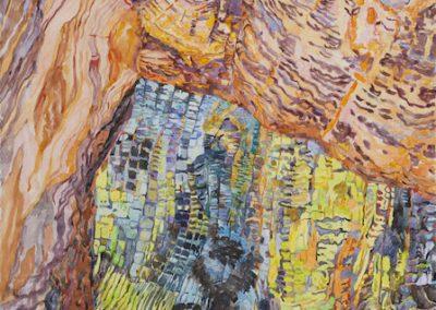 Linda-MacDonald-, The Bridge Before, watercolor-30inx22in
