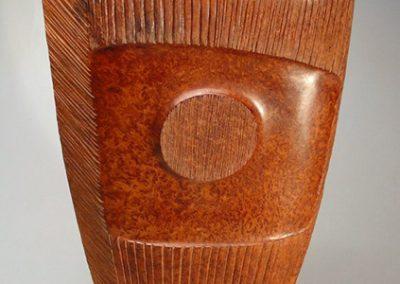 Bruce Mitchell, Double-Image-redwood-25x15x6