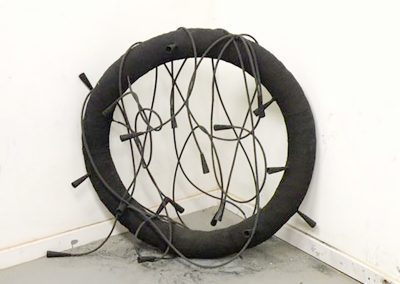 Joe Fox, Hearing Voices, tire shreds, rubber and paper