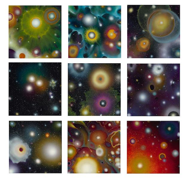Johanna Baruch, Polytropos, I-IX, Oil on panel; 9 panels, 40x40 ins.
