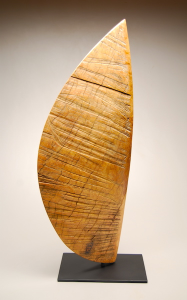 Bruce Mitchell, On the Wind, Eucalyptus_painted_steel,36.5Hh x 14iW x 3D